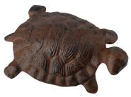 Esschert Design Gartenfigur, Skulptur Motiv Schildröte aus Gusseisen in braun, Größe S, ca. 11 cm x 7,4 cm x 5,6 cm