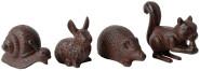 2 Stück Esschert Design Gartenfigur, Skulptur Motiv verschiedene Tiere, sortiert, Größe L, ca. 15 cm x 5,9 cm x 12 cm