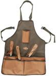 Esschert Design Gartengeräteschürze, Arbeitsschürze mit Taschen mit 4 Taschen, ca. 48 cm x 58 cm