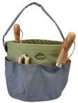 Esschert Design Gartengerätetasche rund grau, 28 x 26 cm