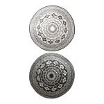 Esschert Design Gartenteppich in runder Form, 180 x 180 x 0,8 cm, Vorleger, Fuß Abstreifer