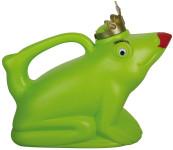 Esschert Design Gießkanne, Wasserkanne Motiv Froschkönigin mit roten Lippen, in grün, ca. 24 cm x 12 cm x 21 cm