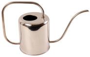 Esschert Design Gießkanne, Wasserkanne in Chrom aus Stahl, schlankes Design, 1,5 Liter, ca. 38 cm x 13 cm x 24 cm