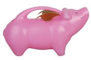 2 Stück Esschert Design Gießkanne, Wasserkanne Motiv fliegendes Schwein in pink, ca. 29 cm x 13 cm x 17 cm