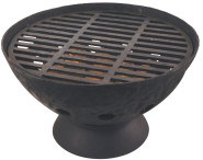 Esschert Design Grill niedrig, kleiner Standgrill, ca. 55 cm x 55 cm x 31 cm