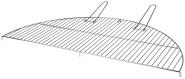 Esschert Design Grillrost für Feuerschalen, 83 x 42 x 2,3 cm, Größe XL, aus Metall