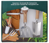 Esschert Design GT41 3-teiliges Gartenset, bestehend aus: Gabel, Schaufel und Lederhandschuhe
