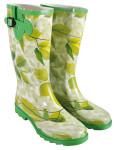 Esschert Design Gummistiefel, Regenstiefel mit Motiv Ulmenblätter in grün, Größe 38 - 39