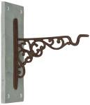 Esschert Design Haken für Hanging Basket Schiefer aus Gusseisen und Schiefer, 10,3 x 22,3 x 26,3 cm