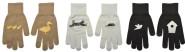 Esschert Design Handschuhe anschließendes Muster, Design sortiert, 13 x 1 x 23cm, mit Bund, in braun/weiß/schwarz, Entenfamilie, Katzenjagd, Vogelhaus