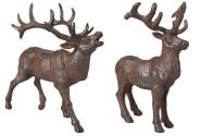 Esschert Design Hirsche Gusseisen sortiert, 1 Stück, 24 x 14 x 22 oder 17 x 13 x 23 cm