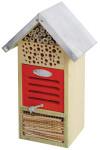Esschert Design Insektenhotel, Insektenhaus aus Holz mit Metalldach, ca. 19 x 15 x 33 cm