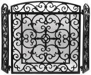 Esschert Design Kaminschutz, Funkenschutz, in schwarz, ca. 61 cm x 21 cm x 59 cm