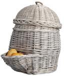 2 Stück Esschert Design Kartoffelkorb in grau, ca. 35 cm x 47 cm x 45 cm