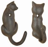 "Esschert Design Katzenschwanz Haken, aus dem Material ""Gusseisen"", 3,6 x 4,6 x 10,2 oder 5,2 x 3,0 x 10,4 cm"