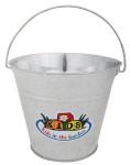 Esschert Design Kindereimer, Garteneimer für Kinder mit Henkel in grau, ca. 21 cm x 19 cm x 16 cm