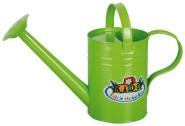 Esschert Design Kindergießkanne, Blumengießkanne für Kinder in grün mit 2 Griffen, ca. 33 cm x 13 cm x 23 cm
