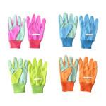 Esschert Design Kinderhandschuhe aus Baumwolle/Polyester, 11 x 0,9 x 19,7 cm, pink/blau/grün/orange sortiert, Farbwahl nicht möglich