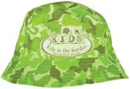 Esschert Design Kinderhut Camouflage Muster, 24 x 24 x 12 cm, aus Stoff, mit Sonnenschutz, in grün