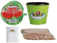 Esschert Design Kinderpflanzset Tomate, Anbauset für Kinder, bestehend aus: Blumentopf, Tomatensamen, Erde