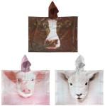 Esschert Design Kinderponcho Farmtiere sortiert aus PEVA, 89,0 x 0,5 x 62,0 cm