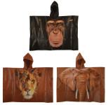 Esschert Design Kinderponcho out of Africa sortiert aus PEVA, 89,0 x 0,5 x 62,0 cm