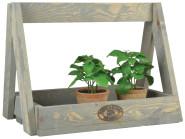 Esschert Design Kiste mit Handgriff, 40 x 30 x 30 cm, aus Holz, Holzgriff, Holzkiste, Holzbox,