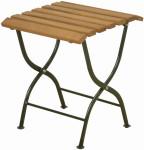 Esschert Design Klappbeistelltisch aus Holz/Metall, 38 x 38 x 44 cm, klappbar, in Farbe grün