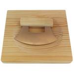 Esschert Design Kräuterschneideset aus Edelstahl, Kautschuk und Holz, 20,0 x 20,0 x 2,0 cm