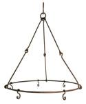 Esschert Design Kräutertrockner, Gewürztrockner, rustikal, mit fünf Haken, antik wirkend, Ø ca. 35 cm