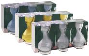 Esschert Design Krokus Glas 3er Set, Blumengefäß, Korokosgefäß, bauchiges Glas speziell für Krokuse, 1 Set, sortiert