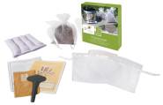 Esschert Design Lavendel Duftsäckchen Set, Raumduft, Pflanzset inkl. Soffsäckchen und Untersetzter