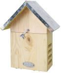 Esschert Design Marienkäferhaus, Brutkasten, Überwinterungskasten mit Metalldach, ca. 17,4 cm x 10,1 cm x 22,8 cm