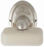 """Esschert Design Moderner Seifenhalter mit Seife, aus Aluminium/Stahl, 7,3 x 9,2 x 10,3 cm, Schriftzug """"SOAP"""", Badezimmer Bedarf"""