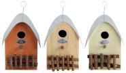 """2 Stück Esschert Design Nistkasten, Vogelhaus """"Haus"""", sortiert, ca. 15 cm x 22 cm x 20 cm"""