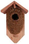 Esschert Design Nistkasten, Vogelhaus mit Höhle aus Kokos, ca. 15,2 cm x 10,2 cm x 26,2 cm