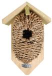 2 Stück Esschert Design Nistkasten, Vogelhaus mit Höhle aus Seegrass, ca. 15 cm x 10 cm x 26 cm