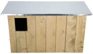 Esschert Design Nistkasten, Vogelhaus Schleiereulen aus Holz, ca. 86 cm x 37 cm x 44 cm