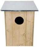 2 Stück Esschert Design Nistkasten, Vogelhaus Waldkauzkasten aus Holz, ca. 48 cm x 48 cm x 60 cm