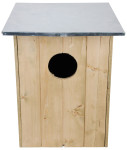 Esschert Design Nistkasten, Vogelhaus Waldkauzkasten aus Holz, ca. 48 cm x 48 cm x 60 cm