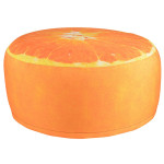 Esschert Design Outdoor Sitzkissen Orange aus Polyester und PVC, 58,0 x 58,0 x 32,5 cm