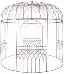 Esschert Design Pavillon aus Metall, 300 x 300 x 300 cm, pulverbeschichtet, elegant, klassisches Design, für Kletterpflanzen, ca. 47 kg