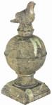"""Esschert Design Pfeilerschmuck """"Vogel"""" Moos in der Größe L, aus dem Material """"Terracotta"""", 22,0 x 22,0 x 49,2 cm"""