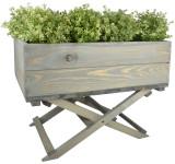 Esschert Design Pflanzkasten mit klappbaren Fuß, 58 x 38 x 45,5 cm, aus Kiefernholz, Blumenkasten, Pflanzkasten, Gartendekoration
