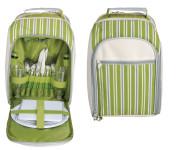 Esschert Design Picknickkühltasche für 2 Personen in grün, ca. 26 cm x 15 cm x 34 cm