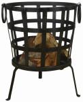 Esschert Design Recycelter Metallfeuerkorb, 47 x 42 x 53 cm, mit 2 Griffen, in schwarz