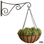 """Esschert Design Riesen Hanging Basket 24""""& Haken aus Stahl und Kokosfaser, 7,7 x 76,0 x 40,2"""