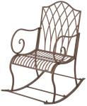 Esschert Design Schaukelstuhl aus Metall, 56 x 83 x 98 cm, Gartenstuhl, in klassischer Optik, sehr stabil