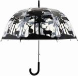 """Esschert Design Schirm transparent Wald, aus den Materialien """"POE, Metall und PP"""", 80,0 x 80,0 x 80,6 cm"""