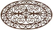 Esschert Design Schmutzfangmatte, Fußmatte aus Gusseisen, oval, ca. 74 cm x 49 cm